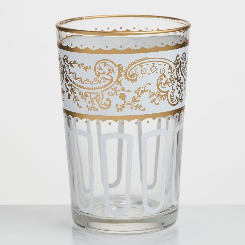 White Moroccan Tea Glasses Set of 6 ($36)