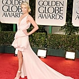 Charlize Theron channeled the roaring '20s in Christian Dior Couture at the 2012 Golden Globe Awards.