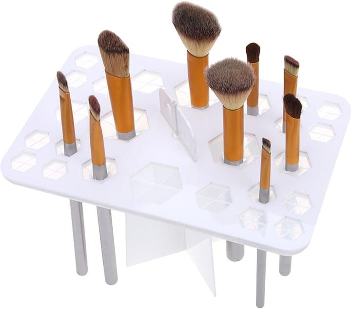 Shein White 26 Hole Makeup Brushes Display Holder