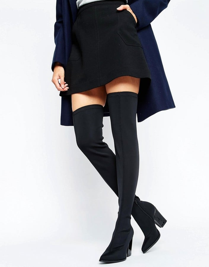 9b993f9c504 Office Harlow Stretch Heeled Over-the-Knee Boots