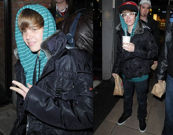 Photos of Justin Beiber in England