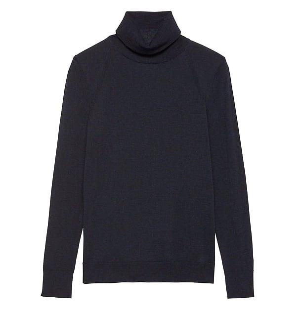 Machine-Washable Merino Wool Turtleneck Sweater