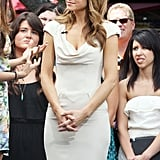 Maria Menounos prepared for her interview with Nina Dobrev at The Grove.