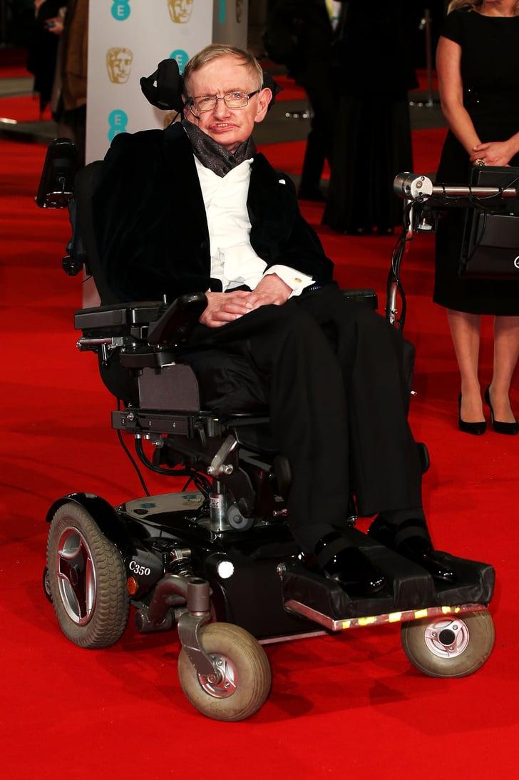 stephen hawking celebrities at the bafta film awards. Black Bedroom Furniture Sets. Home Design Ideas