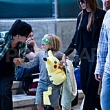 Angelina Jolie at LAX with Shiloh Jolie-Pitt.