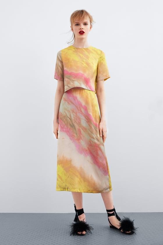Zara Tie Dye Cropped Top