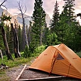 Camp in Glacier National Park in Montana.