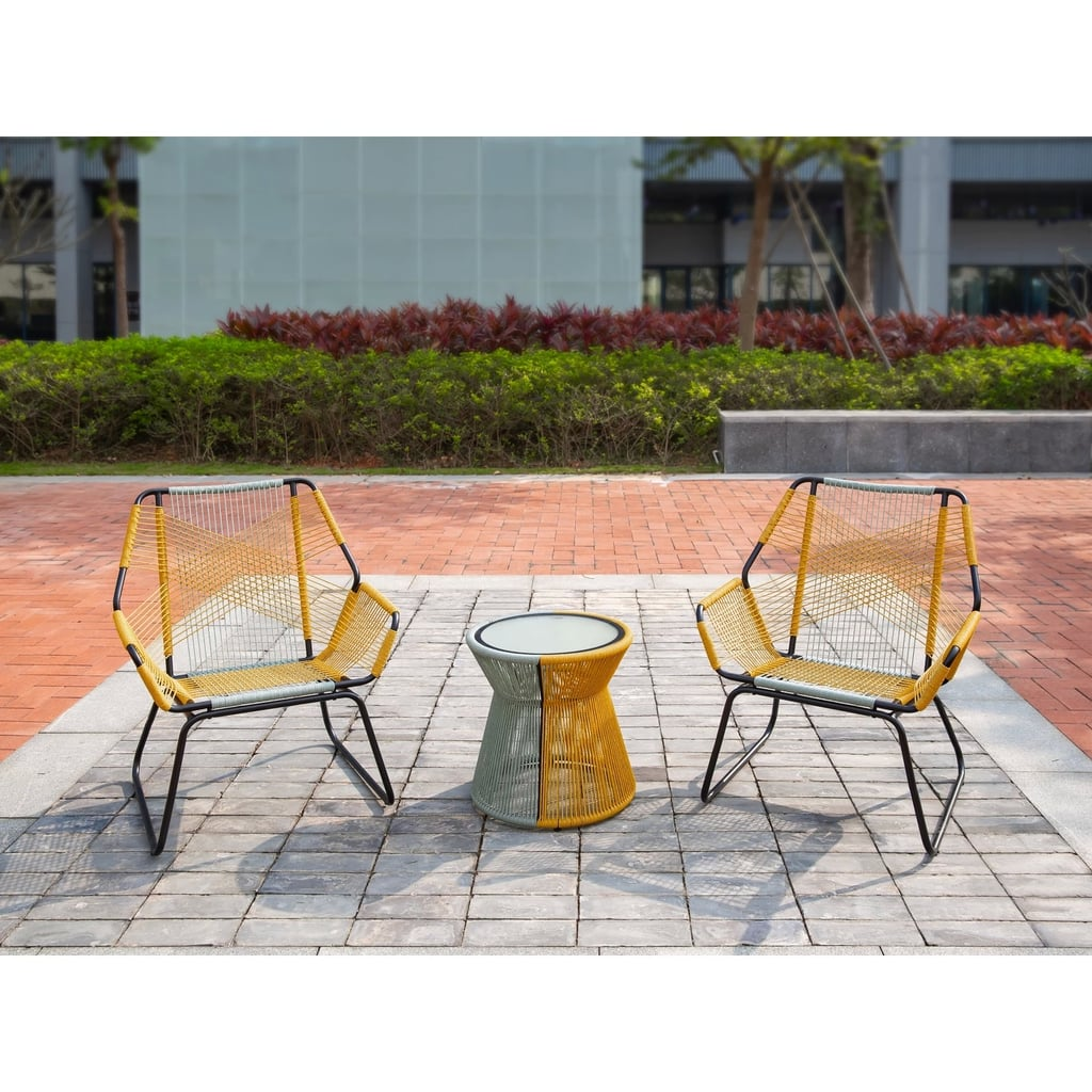 Carag 3-Piece Sling Rope Patio Chat Set