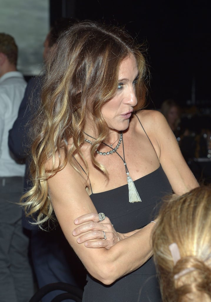 Sarah Jessica Parker chose loose hair for the gala in LA.