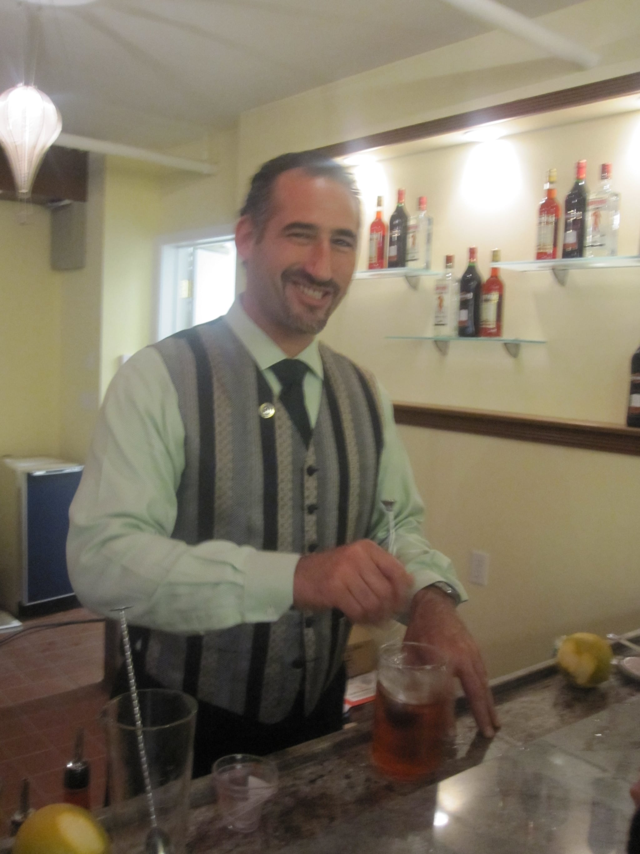 Mr. Mojito, aka Dave Nepove, whips up something other than a Mojito — the classic Negroni.