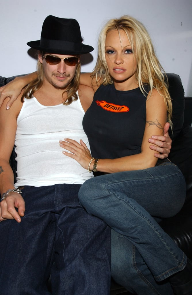 Kid Rock and Pamela Anderson cozied up at the TRL studies in 2001.