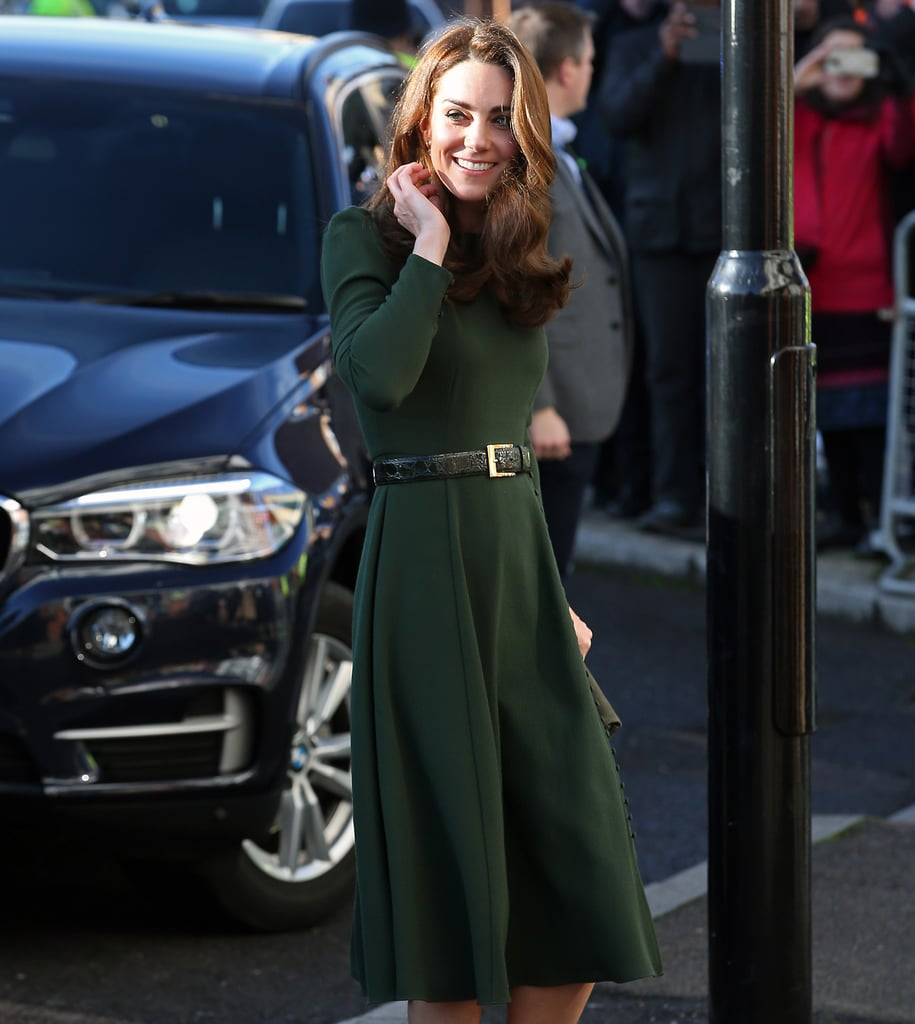 Kate Middleton's Classic Green Dress Hides a Surprise When You See It From the Side