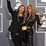 DJ David Guetta and his wife Cathy Guetta are excited to be at the Grammys.