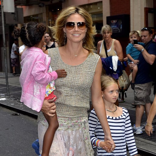 Heidi Klum Pictures With Kids at Broadway Show