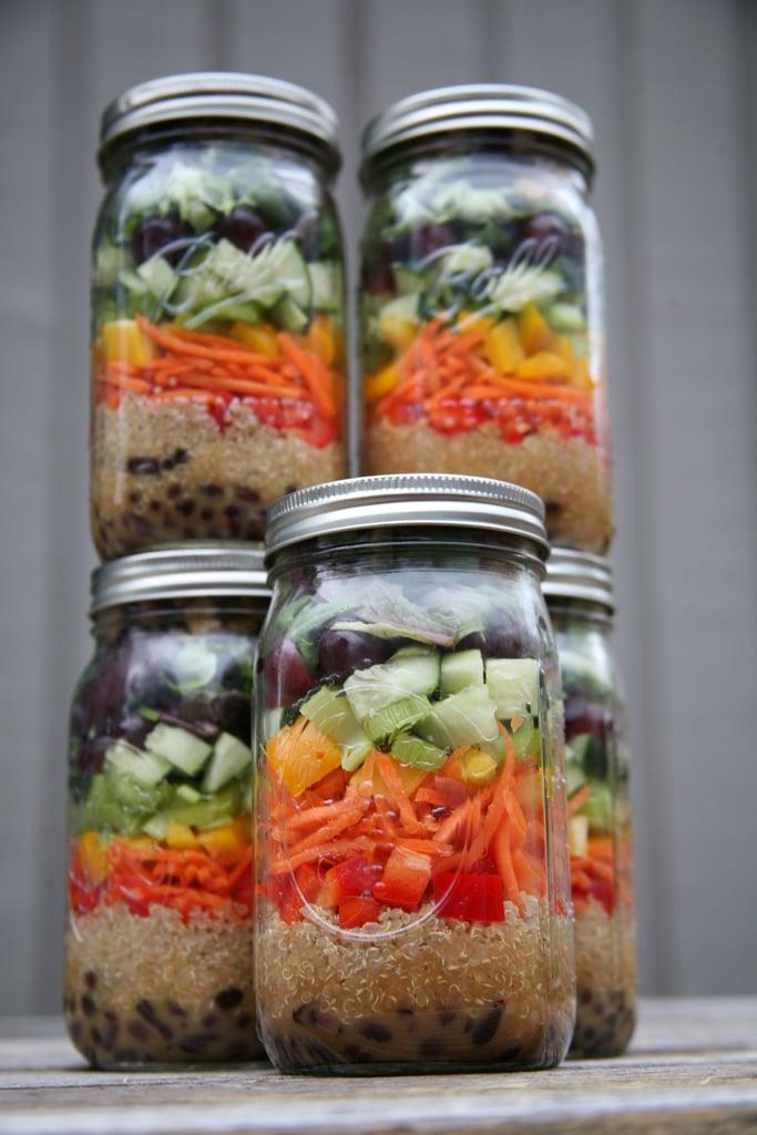 Tofu and Quinoa Mason Jar Salads