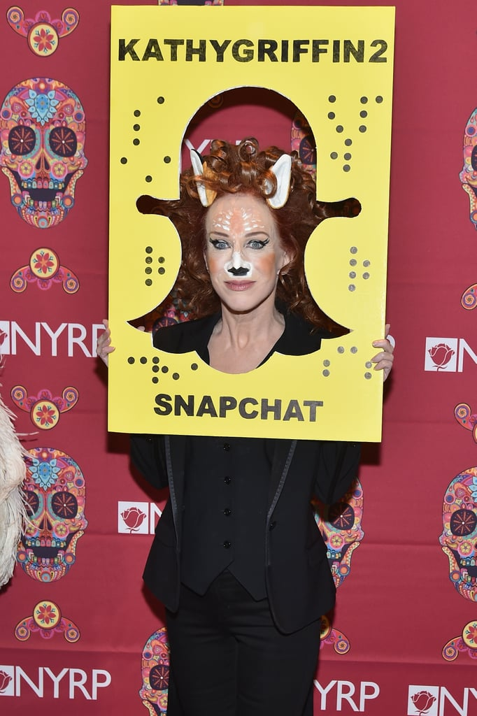Kathy Griffin as the Snapchat Deer Filter  sc 1 st  Popsugar & Kathy Griffin as the Snapchat Deer Filter | Celebrity Halloween ...