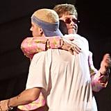 Elton John and Eminem performed together in 2001.