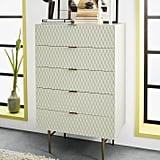 Parchment Audrey Five-Drawer Dresser
