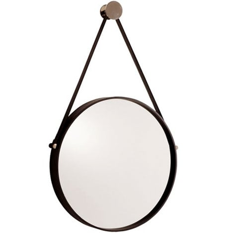 Expedition Iron Mirror with Polished Nickel Hanger, $350