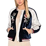 Free People Embroidered Bomber