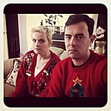 Colin Hanks didn't seem too happy about his holiday sweater. Source: Instagram user colinhanks
