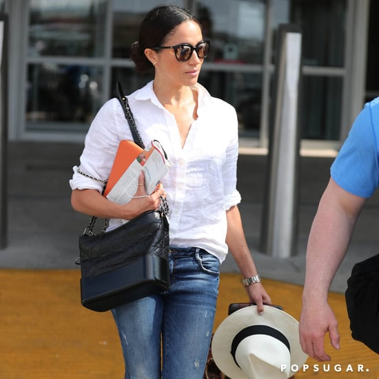 Meghan Markle Wearing J. Crew at the Airport
