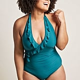 ModCloth Here Comes Ruffle One-Piece Swimsuit