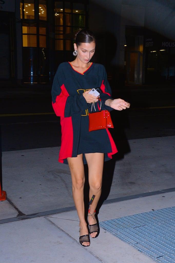 Bella Hadid's Tommy Hilfiger Jersey Dress