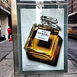 That's one big bottle of Chanel, but we'd call it fun-sized. Source: Instagram user kyleeditor
