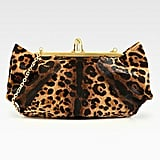 This Christian Louboutin leopard-print pony-hair clutch ($837, originally $1,395) is the most unique leopard clutch you'll ever own. The shape is so cool.