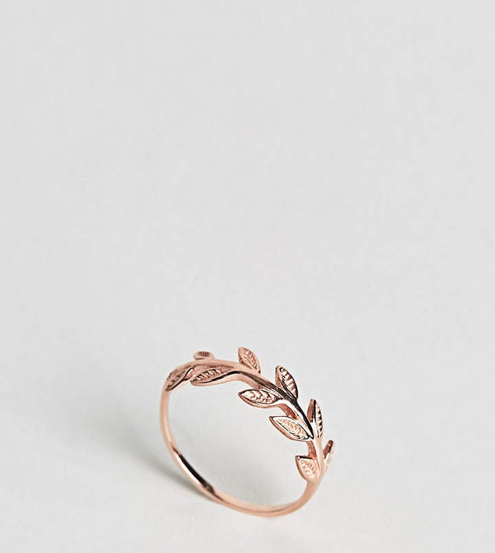 Kingsley Ryan Rose Gold Plated Leaf Ring