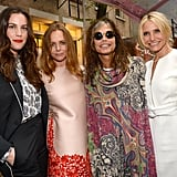 Liv Tyler, Stella McCartney, Steven Tyler and Cameron Diaz all gathered to check out the latest collection from their pal.