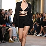 Alberta Ferretti Was Her First MFW Runway, Where She Also Pulled Off This Strappy Bralette