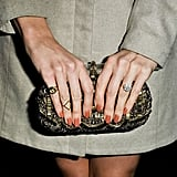 Anchor Louise Roe showed off her peach manicure. Source: Le 21ème | Adam Katz Sinding