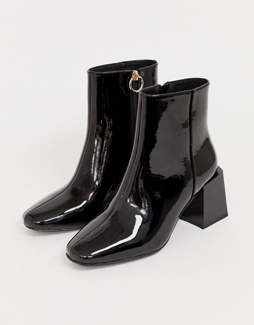 ASOS Design Wide Fit Reed Heeled Ankle Boots