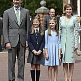 Queen Letizia and Her 2 Daughters Are Basically Triplets in These Photos