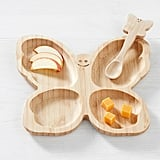 Pottery Barn Butterfly Bamboo Feeding Set