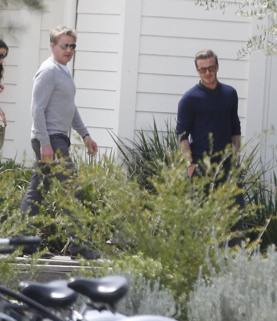 David Beckham and Gordon Ramsay spent Easter together.