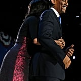 The Obamas were too cute after the president's reelection.