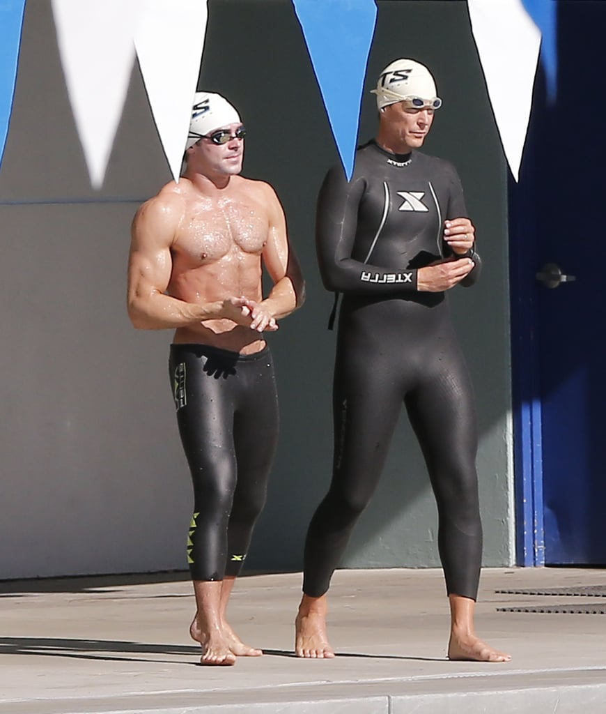 Zac Efron Taking a Swimming Class in LA Pictures ...