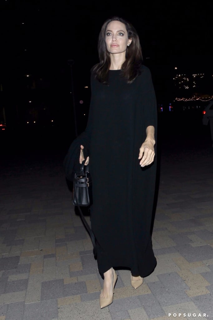 Angelina Jolie's Long Black Dress