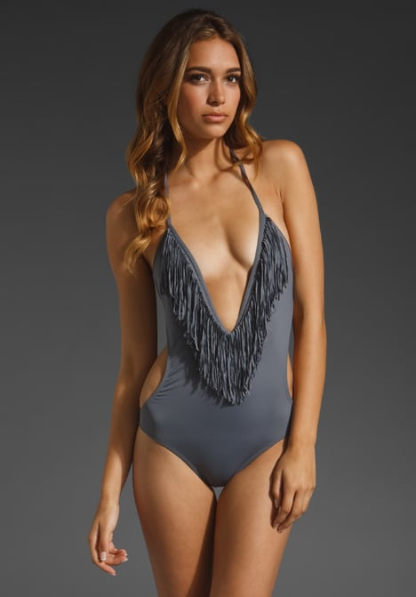 Embrace you inner free spirit with a plunging neckline and fun fringe detailing. L*SPACE Stardust Fringe One Piece ($132)