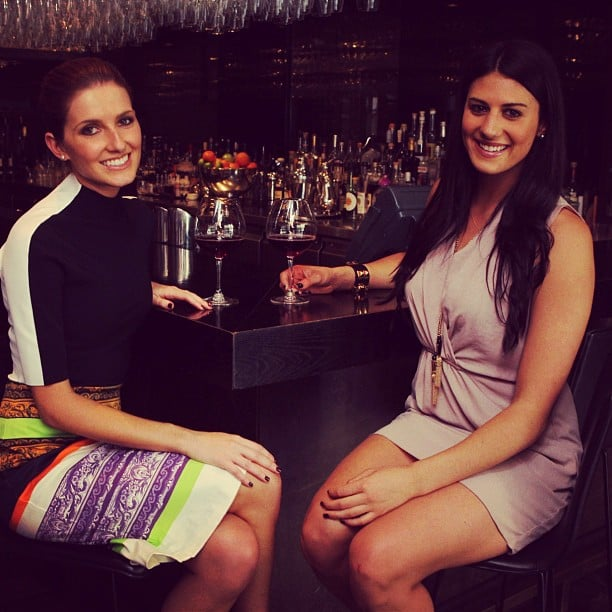 Kate Waterhouse met up with Stephanie Rice for a drink. Source: Instagram user katewaterhouse7