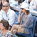 Keri Russell and Shane Deary at the US Open.