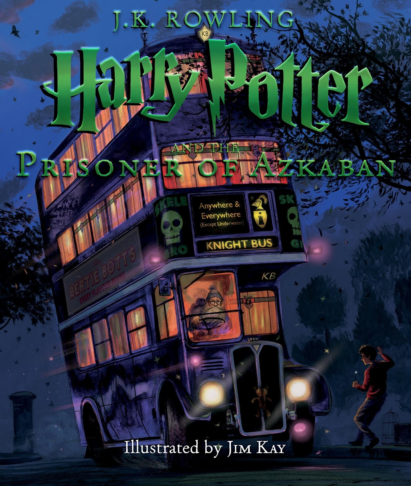 Illustrated Book Cover Version ~ Harry potter and the prisoner of azkaban illustrated cover