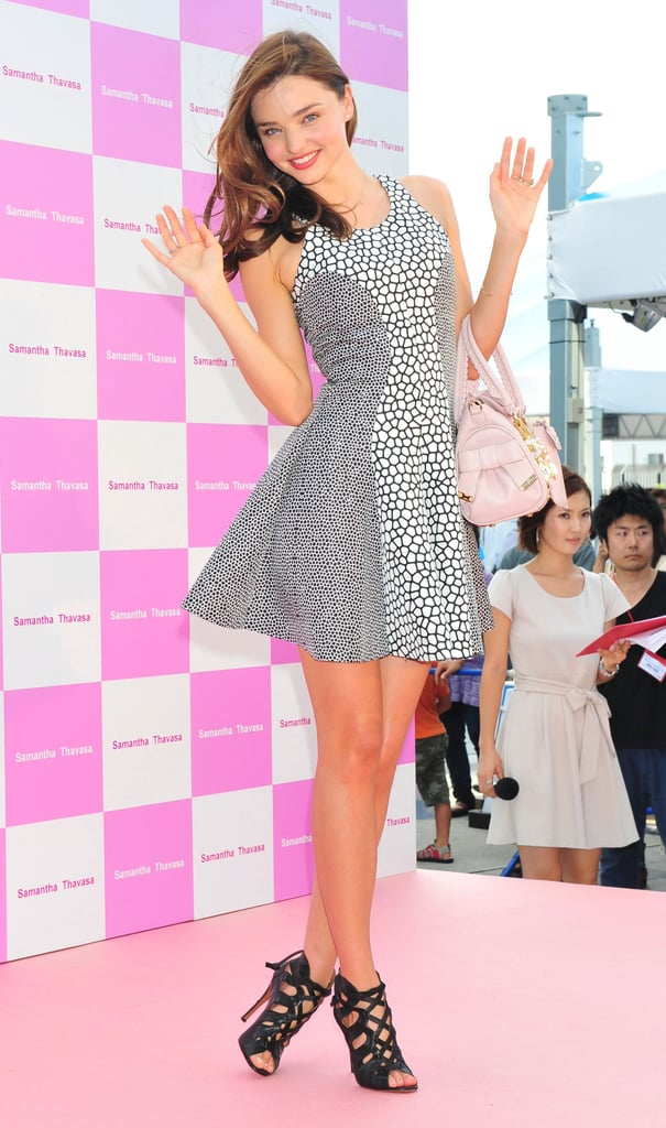 Miranda Kerr was at a Samantha Thavasa event.