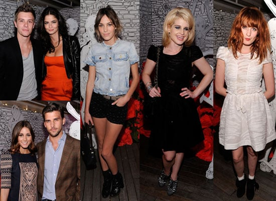 Alexa Chung, Kelly Osbourne, Florence Welch, Xavier Samuel at Mulberry NYFW Party
