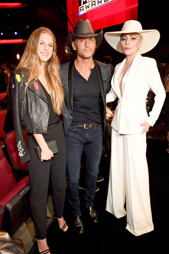 Pictured: Lady Gaga, Tim McGraw, and Maggie McGraw