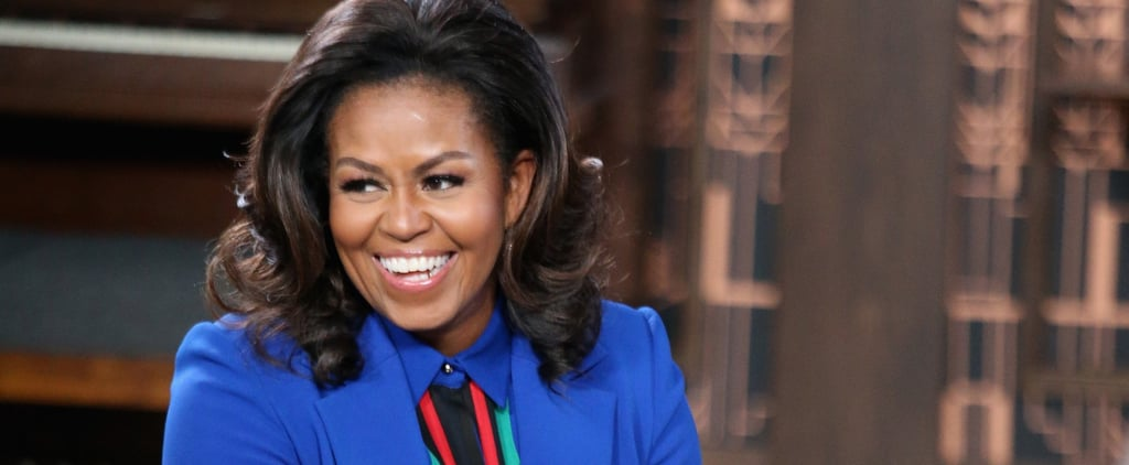 Michelle Obama Blue Elie Saab Suit 2019