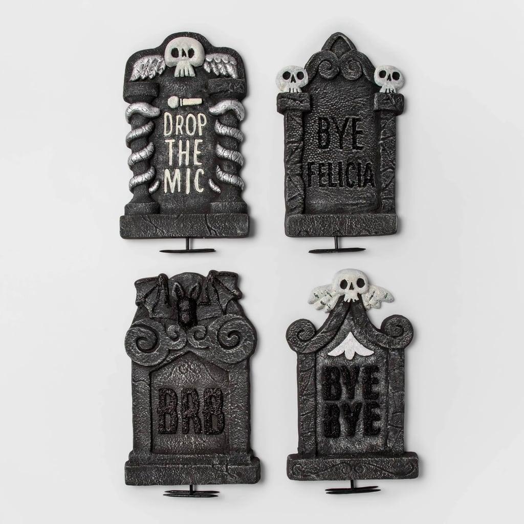 Traditional Tombstone Halloween Decor